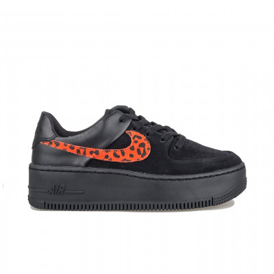 image: Air Force 1 Sage Black Habanero Red