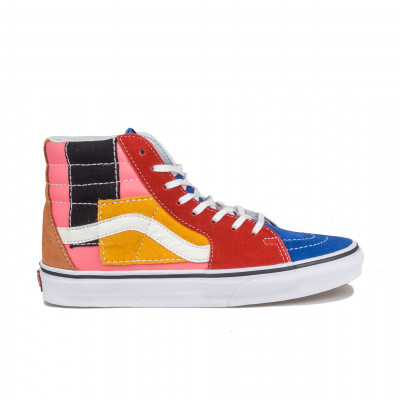 image: Sk8-Hi Patchwork Multi / True White