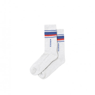 image: Tubular 87 Socks Light Grey Fiery Red