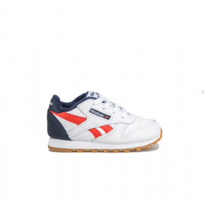 image: Classic Leather Toddler White Navy
