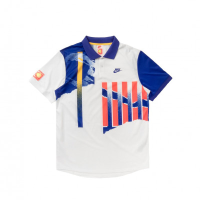 image: Court Advantage Polo White Ultramarine