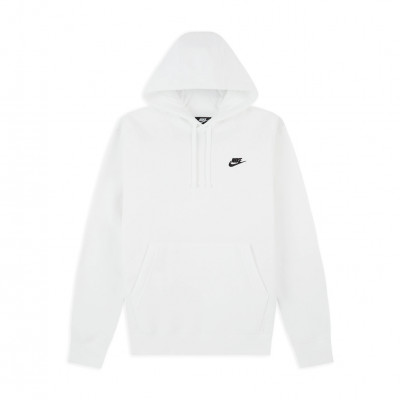 image: Club Fleece Hoodie White Black
