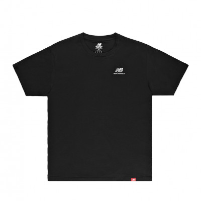image: Essentials Embriodered Tee Black